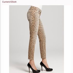 Current/Elliott The Stiletto Camel Leopard  Jean